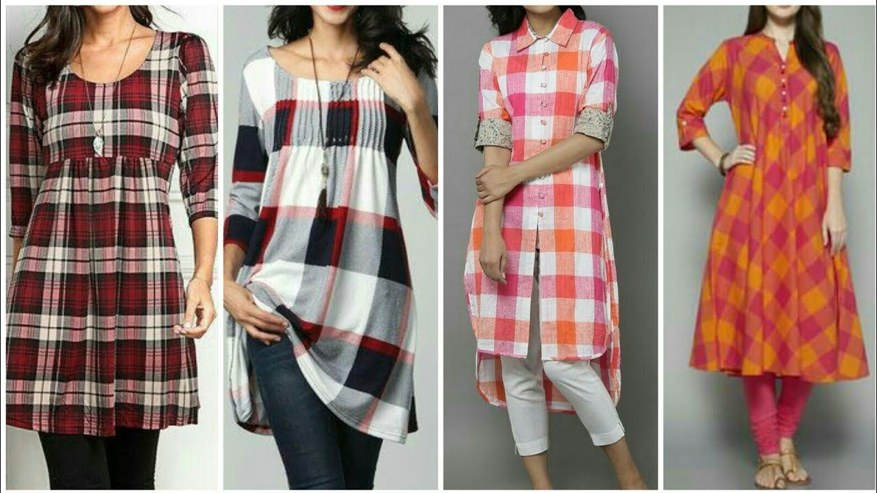 pin by the beauty writer on latest cotton check kurti kurta designs