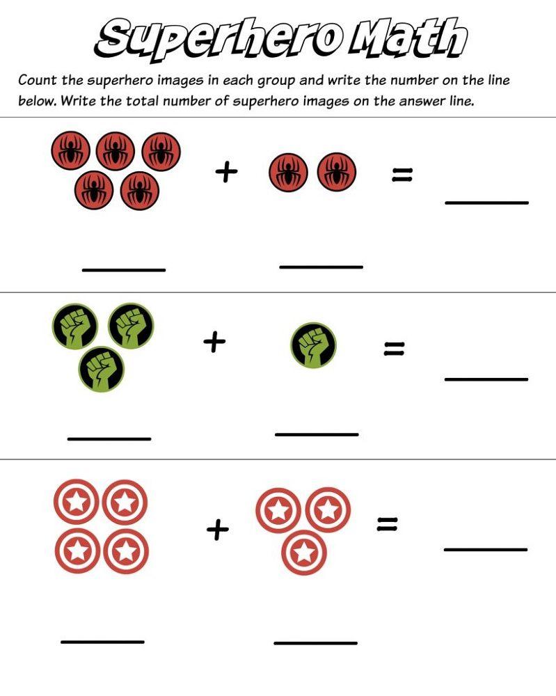 Worksheets for 2 Years Old Children Kindergarten math