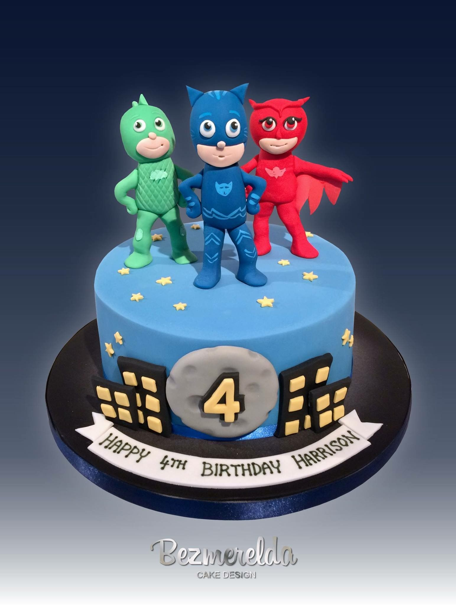 Pj Masks Cake Made By Bezmerelda Pj Masks Birthday Cake