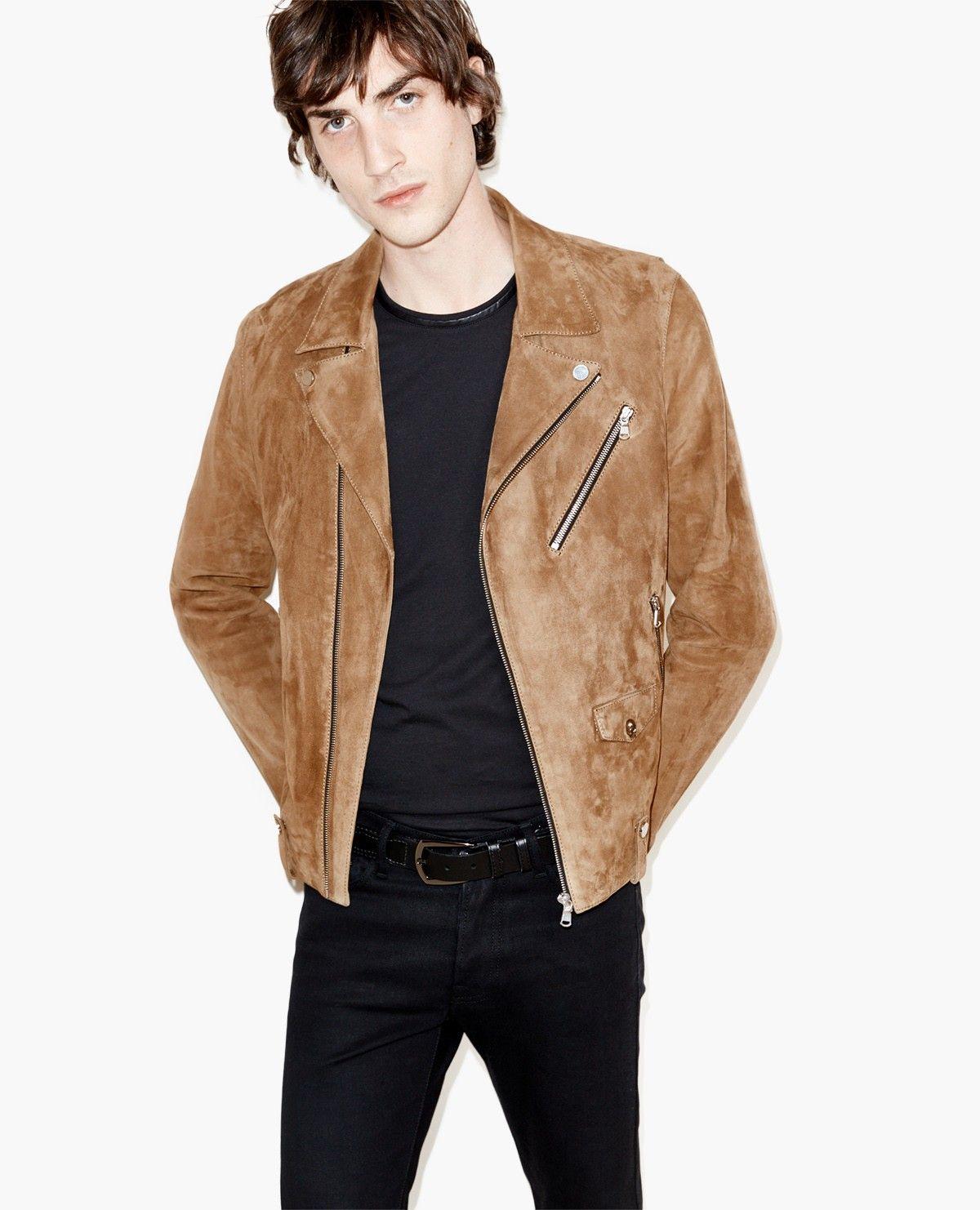 c1a553532e Suede biker jacket - Men - The Kooples   Mens Style   Jackets, Suede ...