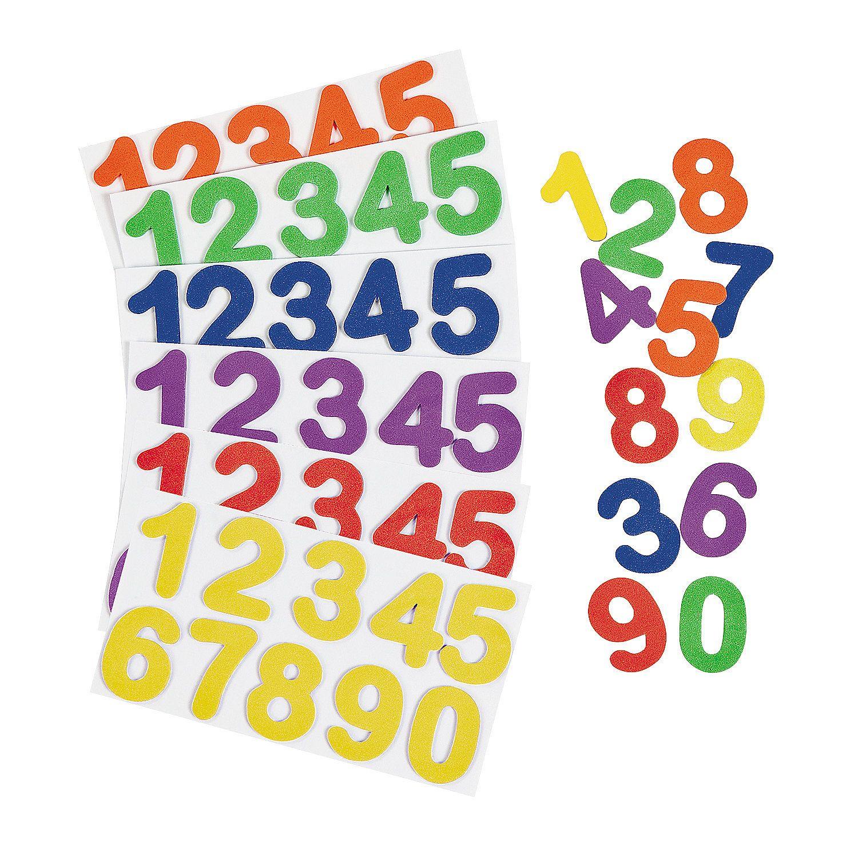Adhesive Numbers Orientaltrading