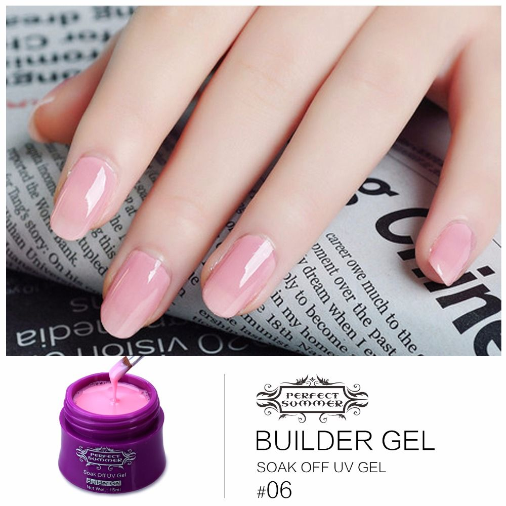 Perfect Summer UV Builder Gel French Manicure Extension 14 Colors ...