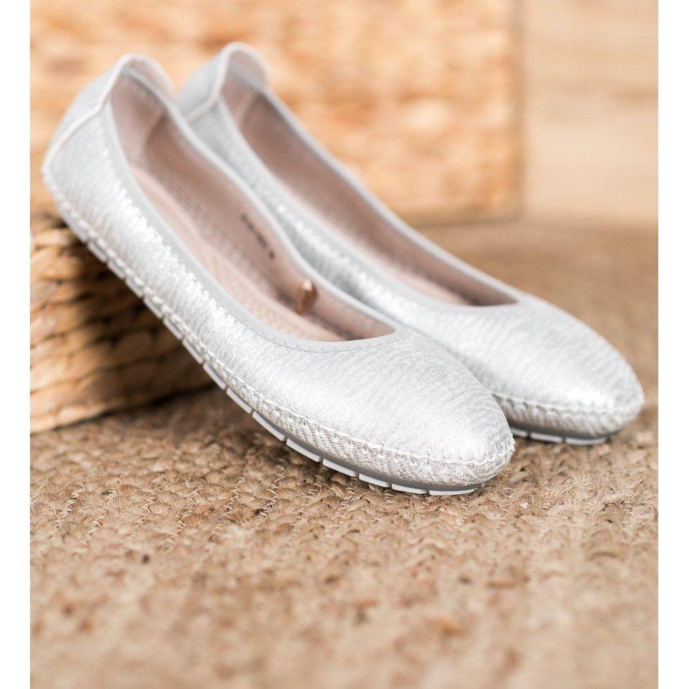 Kylie Klasyczne Baleriny Szare Shoes Wedding Shoe Fashion