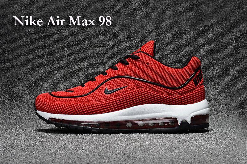 nike air max 98 white black red