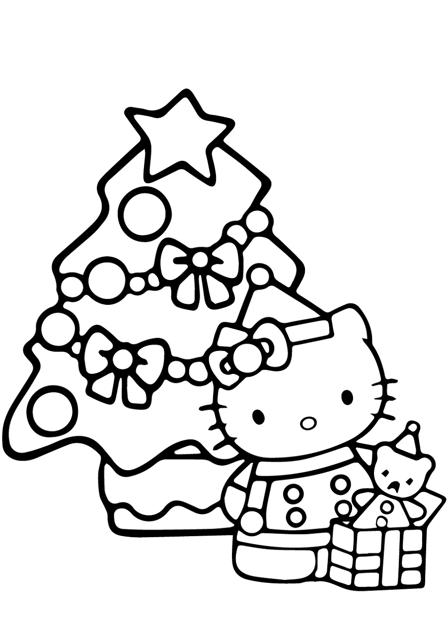 Hello Kitty Christmas Coloring Pages | Hello kitty ...