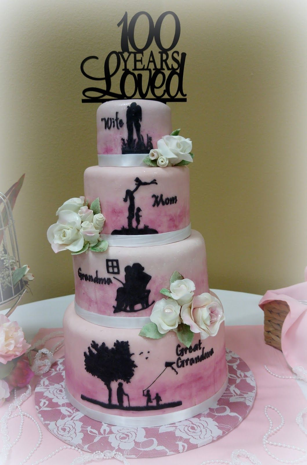 Grandmother 100th birthday party val 39 s cakes pinterest for What to buy grandmother for birthday