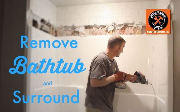 How To Remove A Fiberglass Bathtub And Surround In 60 Minutes