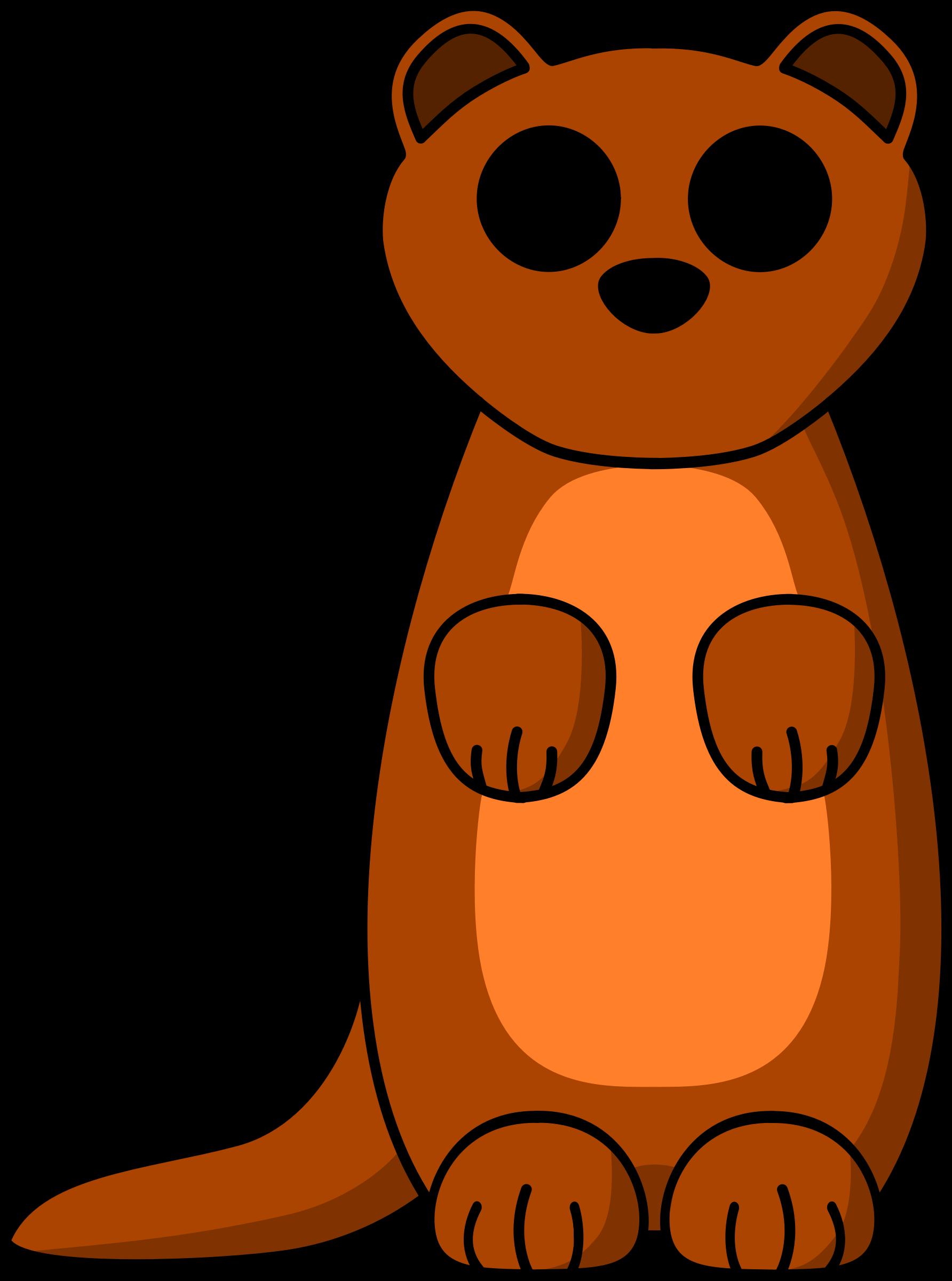 cartoon weasel by schplook cartoon weasel or ferret or stoat in rh pinterest co uk Ferret Icon ferret clipart