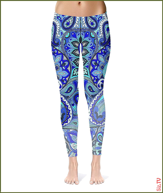 Yoga Pants Blue Mandala-Women s Workout Yoga Fitness Slim Fit Floral Print Pant Activewear Exercise...