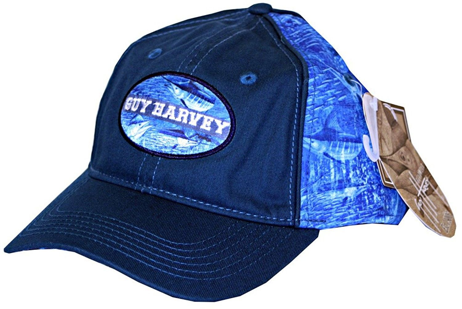 654573a4d86 Blue Marlin Camo Fitted Fishing Hat - C9120XYQJQX - Hats   Caps