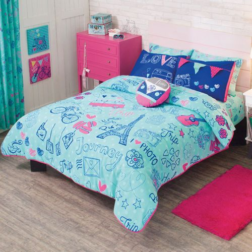 Neon Color Bedroom Ideas Bedroom Design London Bedroom Colors Red And White New Style Bedroom Design: Twin And Full Trip To Paris Comforter Set With Matching