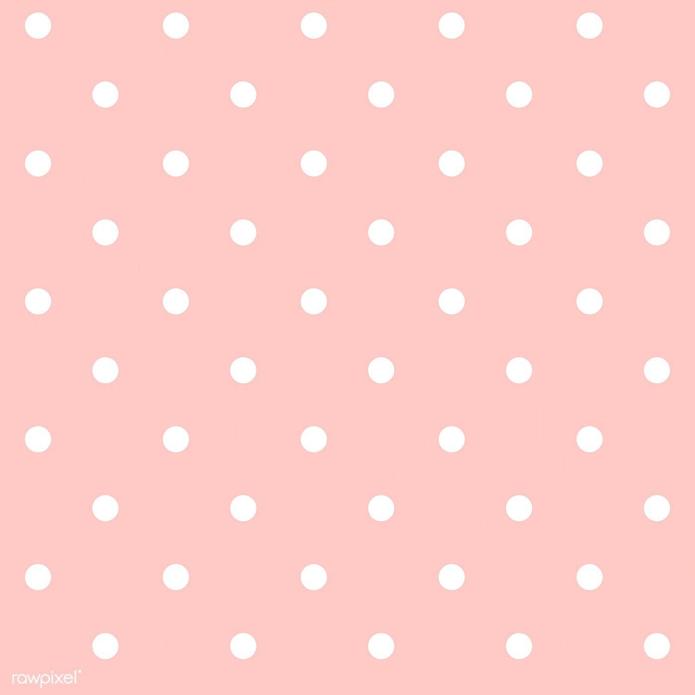Pastel Pink And White Seamless Polka Dot Pattern Vector Free Image By Rawpixel Polka Dots Wallpaper Background Polka Dots Wallpaper Pink Polka Dots Wallpaper