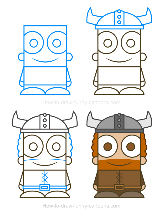 Pictures to draw 5th. Viking clipart characters art