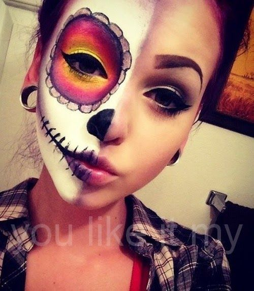 You Like It My...: Sugar Skull Makeup For Girls On Halloween Dead ...