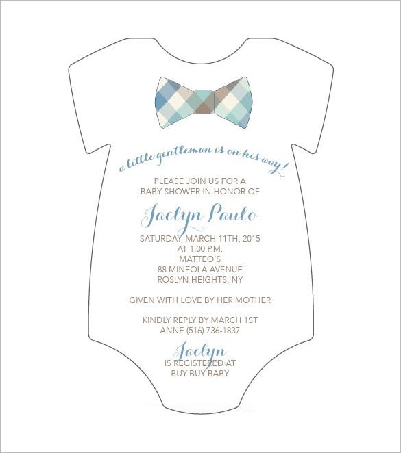 Onesie Baby Shower