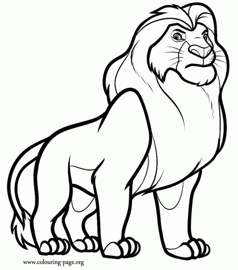 Simba father is a Lion king coloring pages | Animal Coloring Pages ...