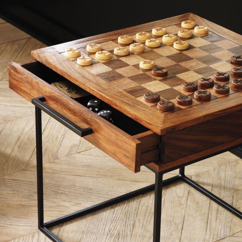 Charmant SAIC Checkers Chess Table | CB2