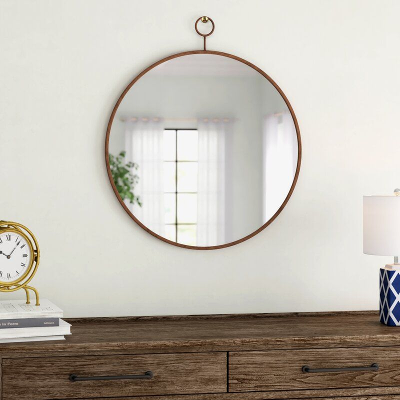 Waconia Wall Mirror In 2021 Mirror Wall Wooden Bathroom Mirror Gold Mirror Wall