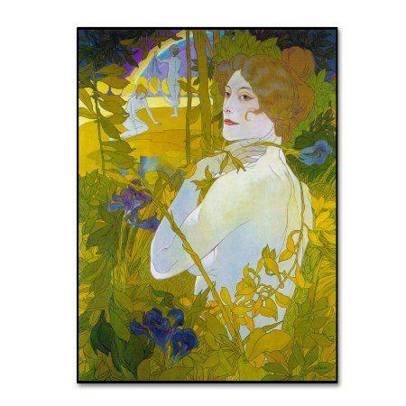 Trademark Fine Art \'De Feure La Femme A Liris\' Canvas Art by Vintage ...