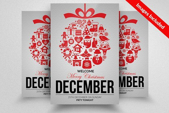 Christmas Flyer Template by Business Flyers on @creativemarket - christmas flyer template