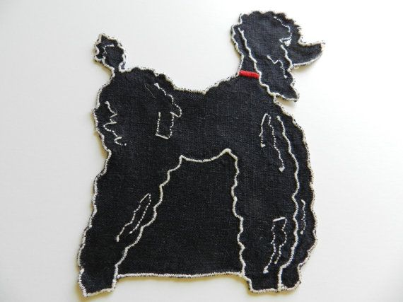 Hey, I found this really awesome Etsy listing at https://www.etsy.com/listing/232217317/applique-black-poodle-black-dog-applique