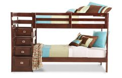 Bedroom Expressions Campus Twin Bunk Bed With Stairs Ba Owcasbt