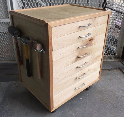 Rolling Tool Chest Wood Tool Box Wood Tool Chest Diy Wood Chest