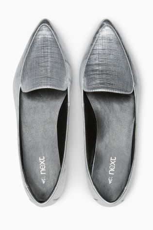 025aca8077bda Buy Shimmer Pointed Slipper Shoes from the Next UK online shop ...