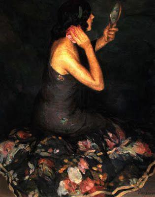 Women in Painting by Joan Cardona Llados (1877-1957) Spanish Artist