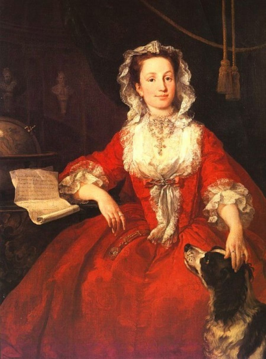 Miss Mary Edwards,  by William Hogarth one of may favorite examples of an early English lady wearing a gown a la Fransais