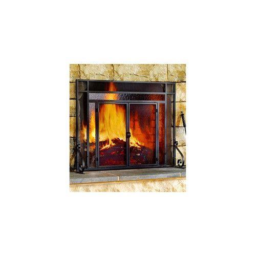 Single Panel Steel Fireplace Screen Fireplace Screens With Doors