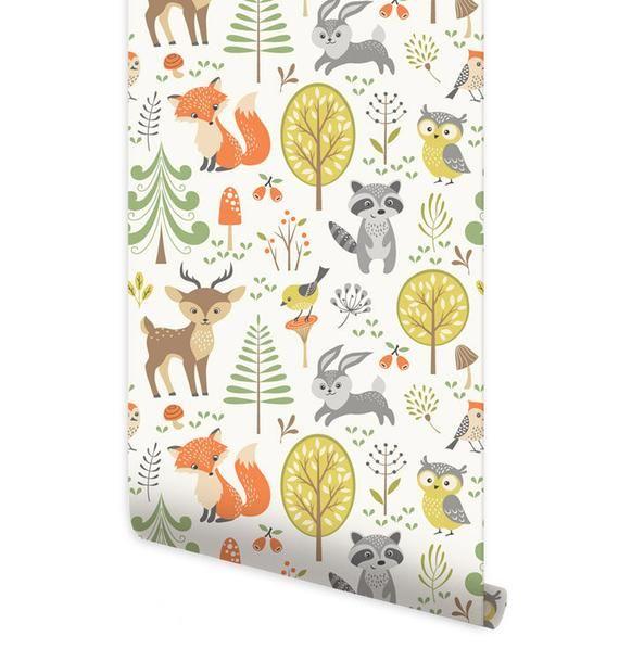 Best Woodland Animals Wallpaper Forest Animals Repositionable 400 x 300