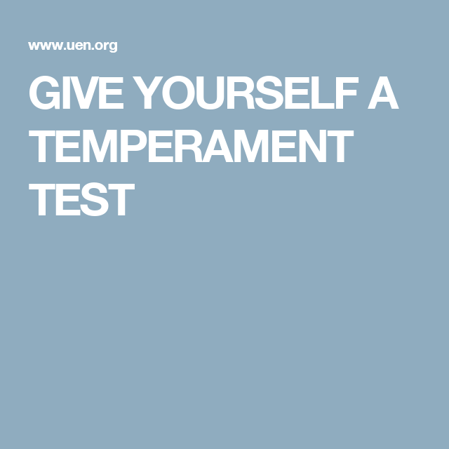 Catholic temperament test
