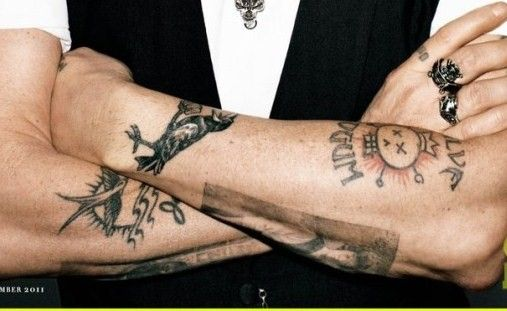 1fcbaa7d4c008 johnny depp has a ROOK TATTOO!!!   Tattoos   Johnny depp tattoos ...