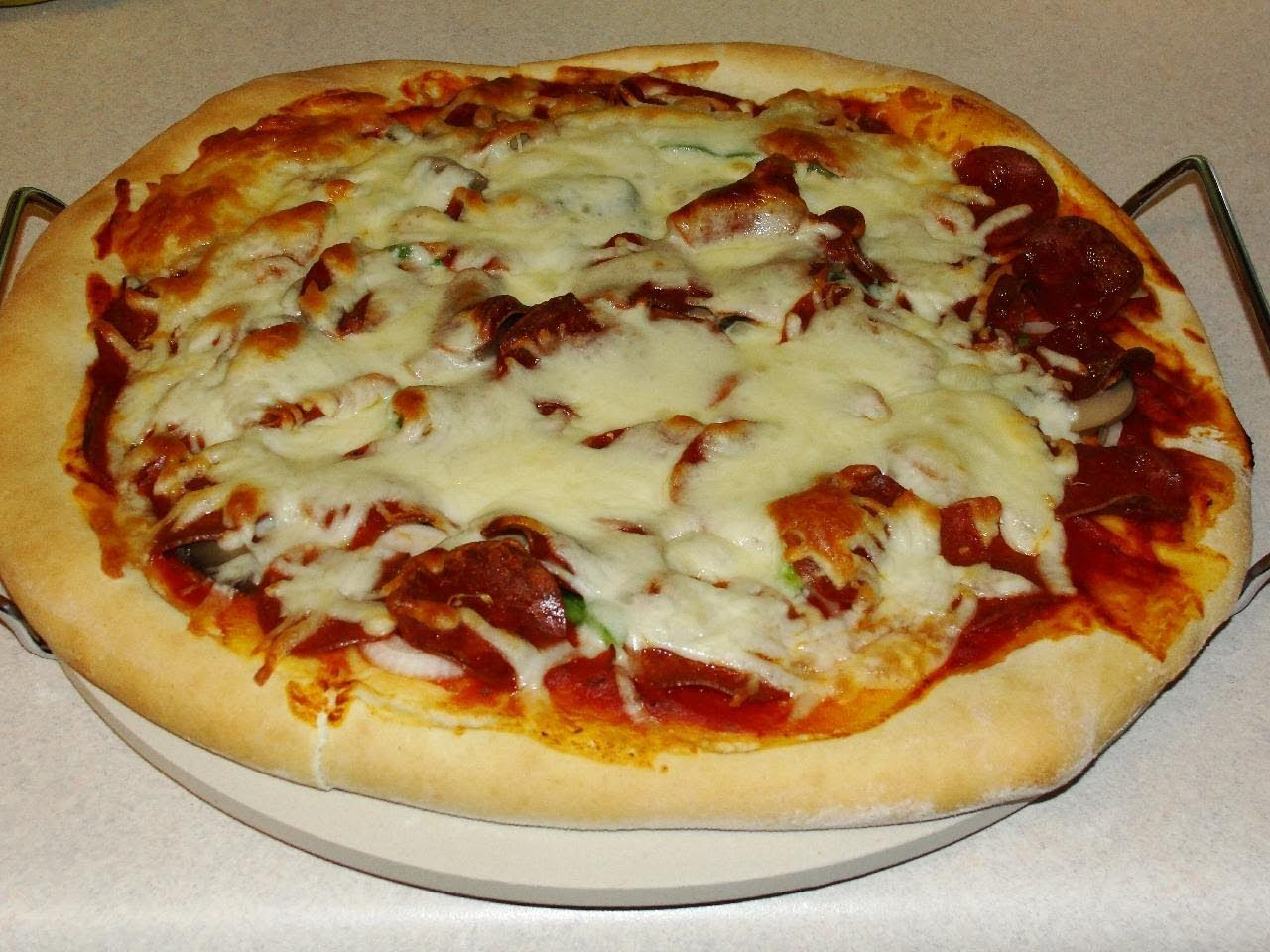 how to make fast easy homemade pizza dough with cookingandcrafting