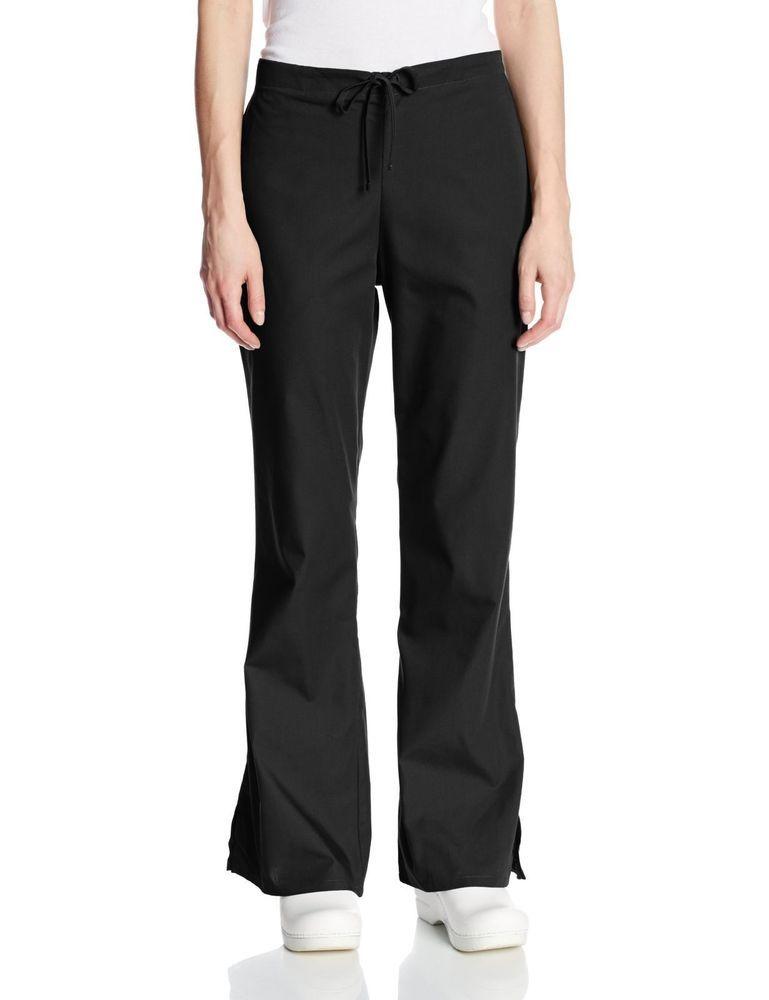 a40e57cb9a0 eBay #Sponsored NEW Cherokee Women's Fashionable Flare Leg Drawstring Pant  Black Large #4101