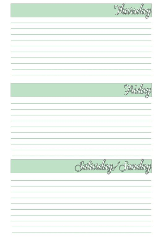 planner agenda weekly template free printable for bullet journal - weekly log template