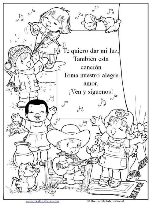Paginas Para Pintar Paginas Para Pintar Escuela Dominical Para Ninos Ninos Cantando