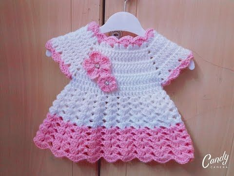 941b657dd فساتين اطفال كروشيه #1من مقاس 0 حتى 12-18شهر|قناة كروشي مع ناننو Crochet  baby dress by Nanno - YouTube