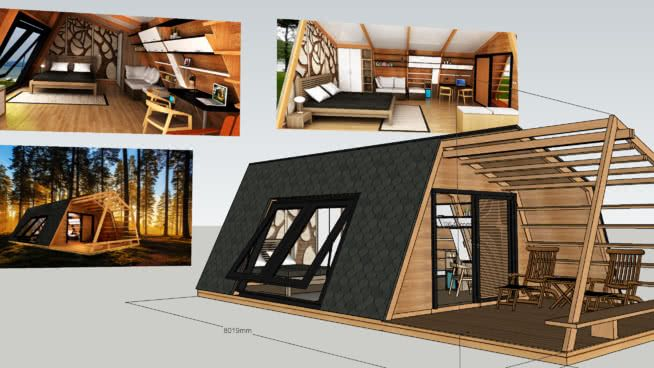 glamping pod with interior