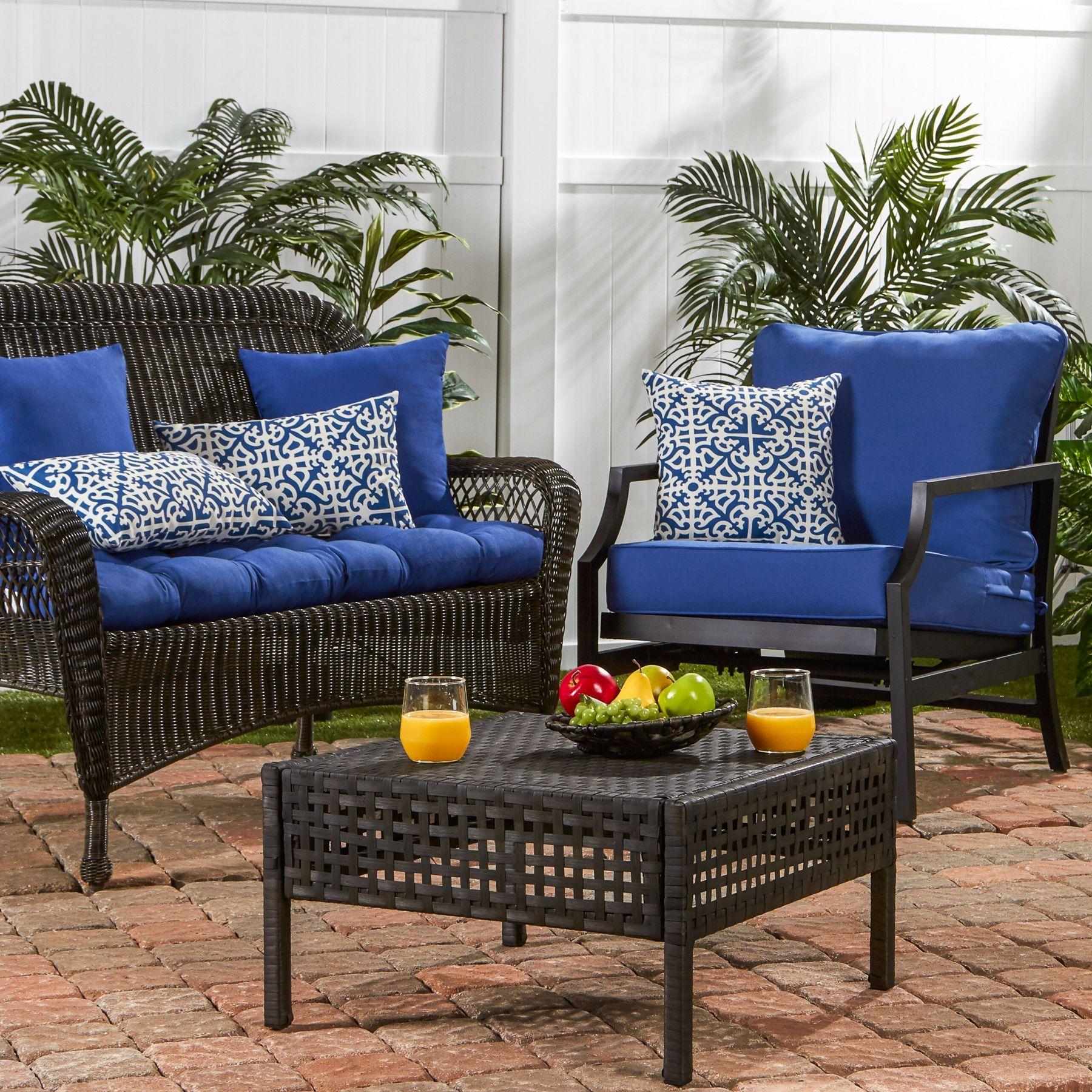 Greendale Home Fashions Lattice Outdoor Accent Pillow Set Of 2 Walmart Com Diy Outdoor Furniture Outdoor Furniture Sets Cleaning Outdoor Cushions