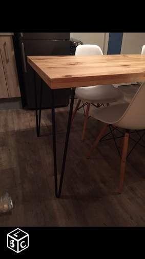 Table bois et fer design industriel table Pinterest Tables and