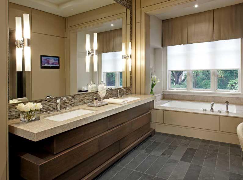 Lavabos modernos imagen muebles para el ba o de l neas for Mueble lavabo desague suelo