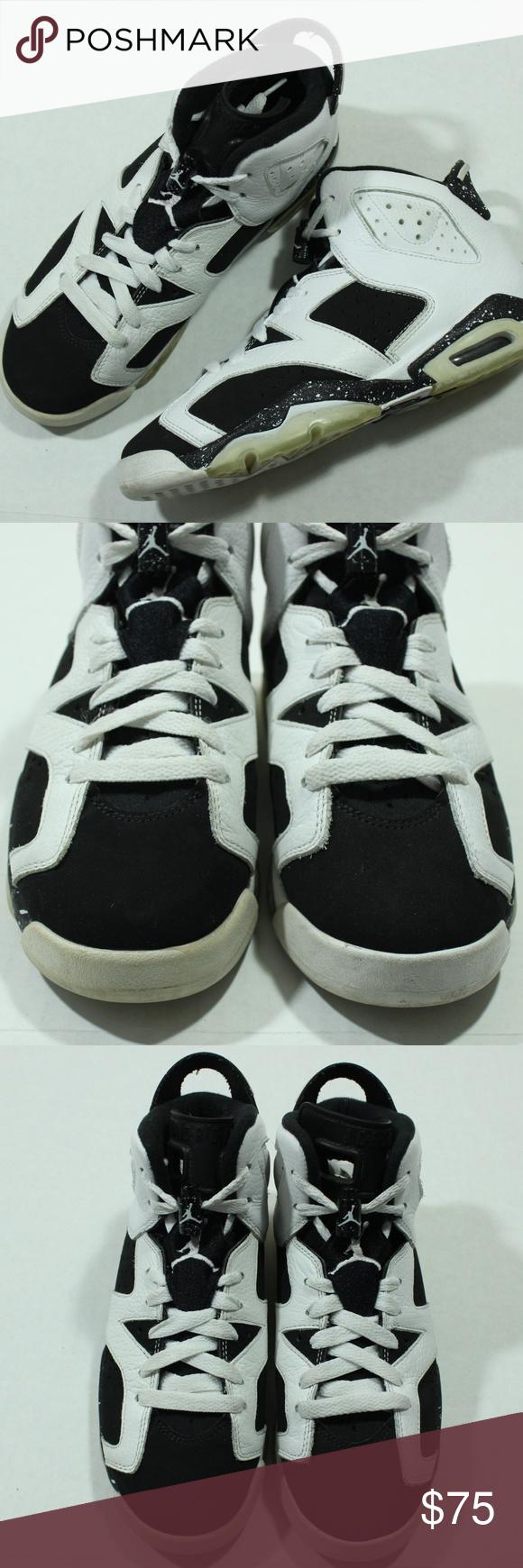 super popular aa7f4 31bf4 Nike Air Jordan 6 Retro High Tops Oreo Black White Nike Air Jordan 6 Retro  High