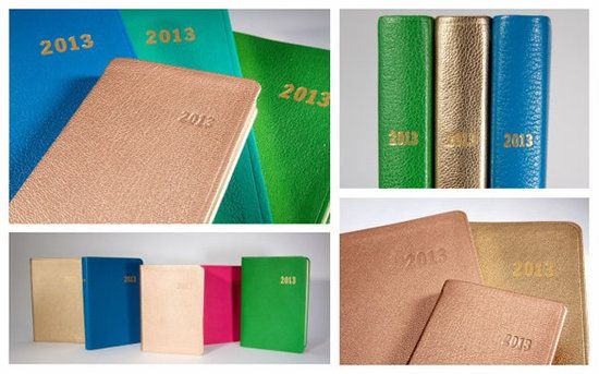 Leather Gold Bound Date Book