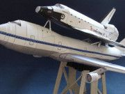 Boeing 747 Shuttle Carrier Aircraft (SCA) Free Aircraft Paper Model Download