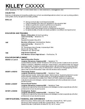 school counseling resume examples education and training resumes graphic sample for counselor template - Counseling Resume Sample