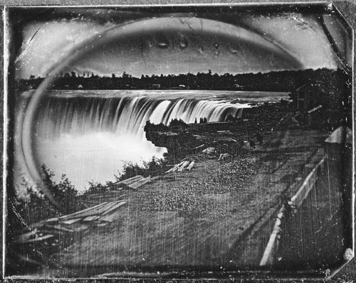 View Of Niagara Falls In Winter C. 1850s Unknown Photographer