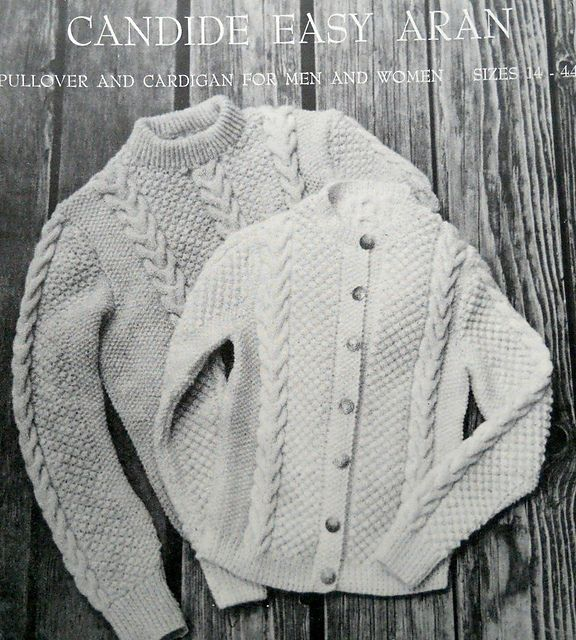 Candide Easy Aran Pullover And Cardigan for Men and Women