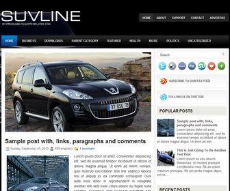 SuvLine Blogger Template é um template blogger para blog de carros e etc. Com layout elegante, SuvLine tem 2 colunas, 1 sidebar direita, menu horizontal drop-down, slide de conteúdo em destaque, resumo de postagem leia mais, botões de redes sociais, locais para posicionar anúncios, background personalizado e muito mais.